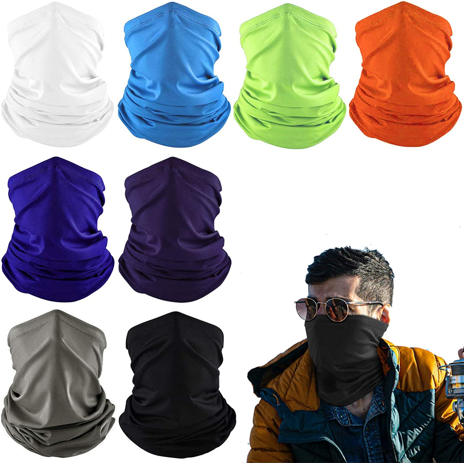 Cooling Neck Gaiters for Men Summer Lightweight Face Covering UV Protection