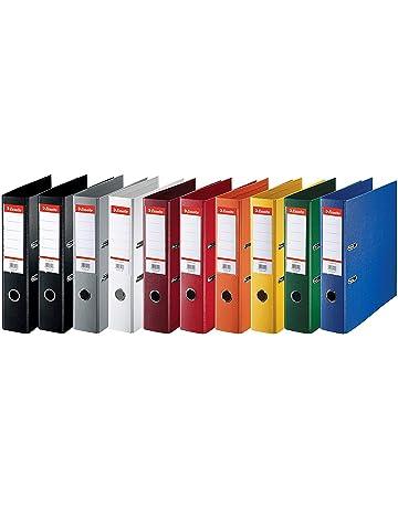 4/anelli colori assortiti Exacompta/-/Set di 10/raccoglitori in polipropilene morbido interno: 15/mm per fogli A4 dorso: 20/mm