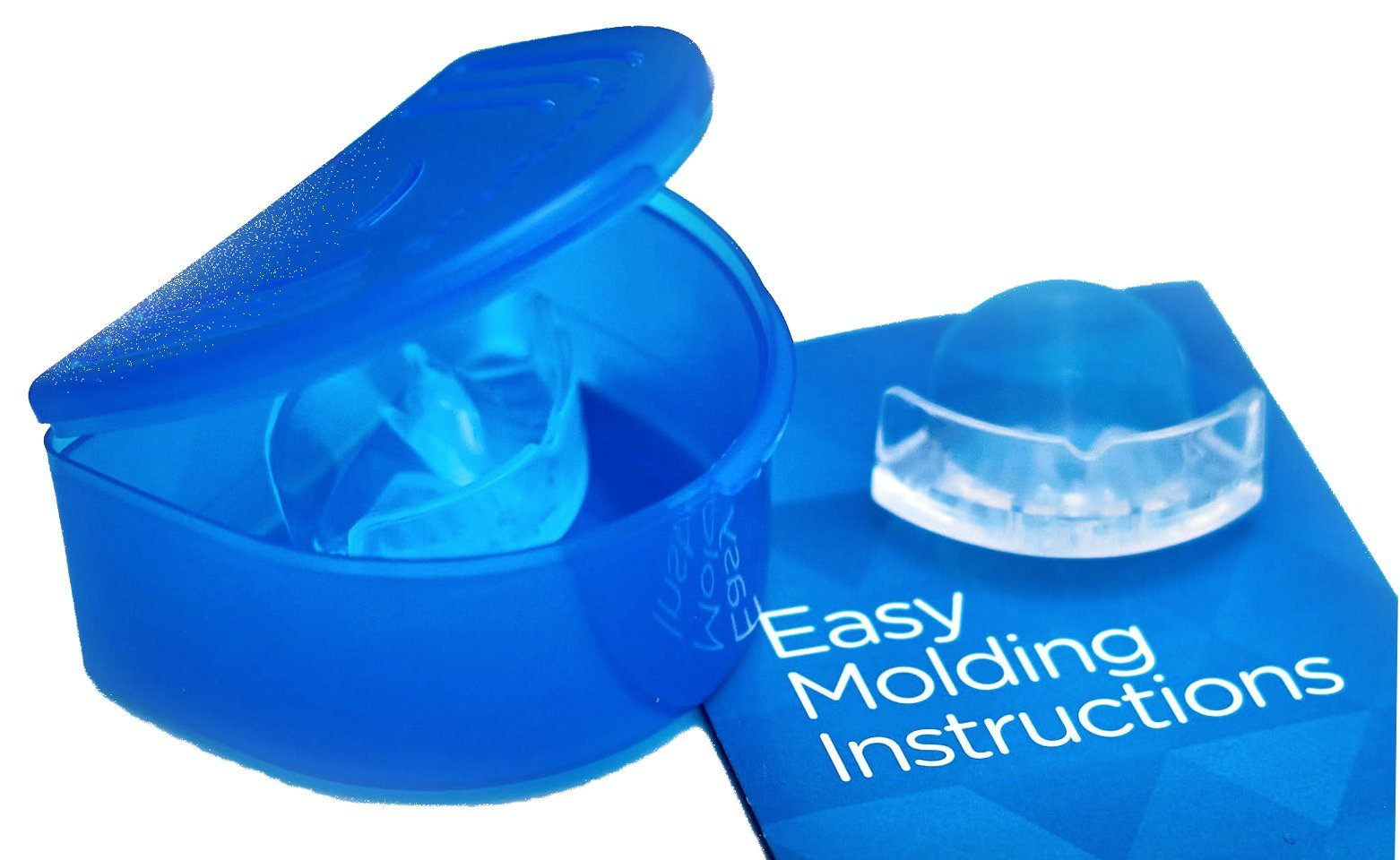 SMARTGUARD ELITE (2 Guards 1 Travel case) Dental Guard Custom Teeth Grinding Night Guard for Clenching - TMJ Dentist Designed - Bruxing Splint Mouth Protector For Relief of Symptoms