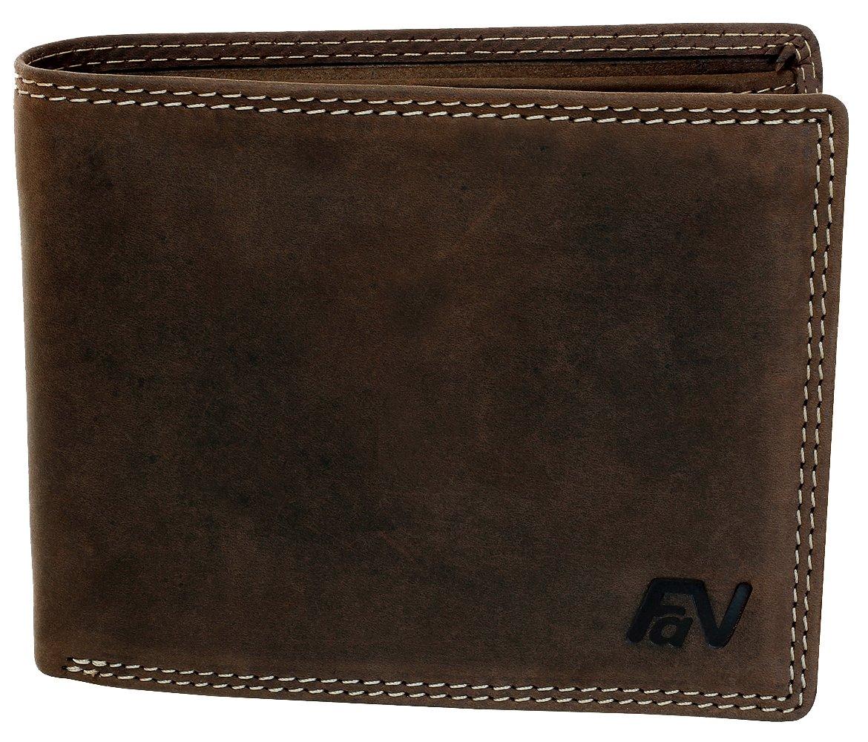 Lujosa cartera de piel hombres mujeres monedero cartera billetera castaño tono natural