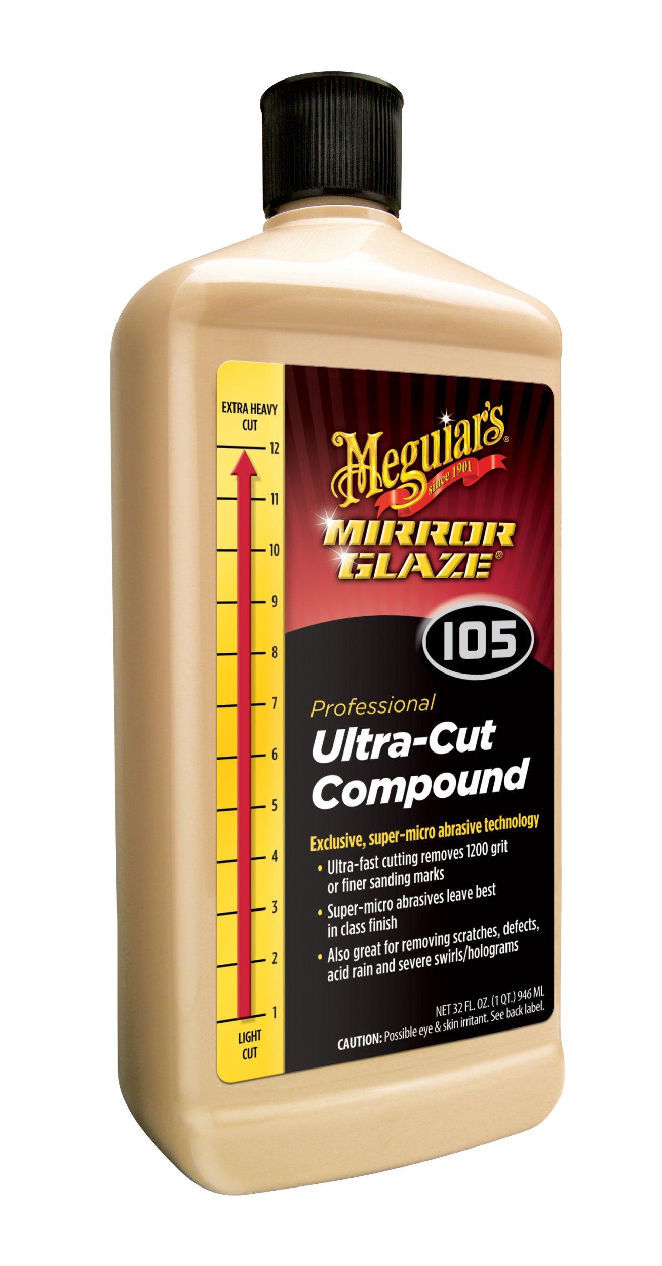 Meguiar's M105 Mirror Glaze Ultra-Cut Compound - 32 oz. by Meguiar's