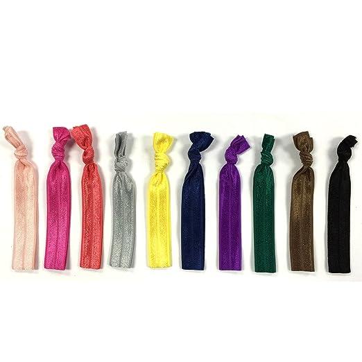 Allydrew 10 Pack Elastic Hair Ties Ribbon Hair Ties Ponytail Holders No  Crease Hair Ties Ouchless adbbc2fe77f