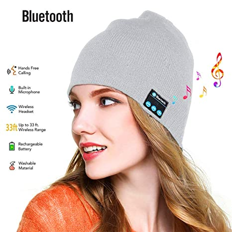 Wireless Cappello Musicale Stereoscopico Altoparlanti Mic Cappello Cuffie  Bluetooth Removibile Maglieria Calda Cappello per telefoni cellulari a97954b5662f