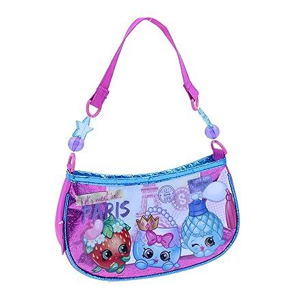 3f376fc4c8 Amazon.com: Shopkins Girls Beaded Handbag Shoulder Bag, Pink, One Size:  COOKIESKIDS