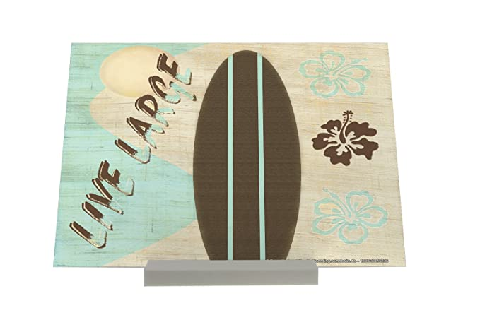 Soporte Fotografias Diversión Larga tabla de surf en Vivo Letrero Decoración: Amazon.es: Hogar