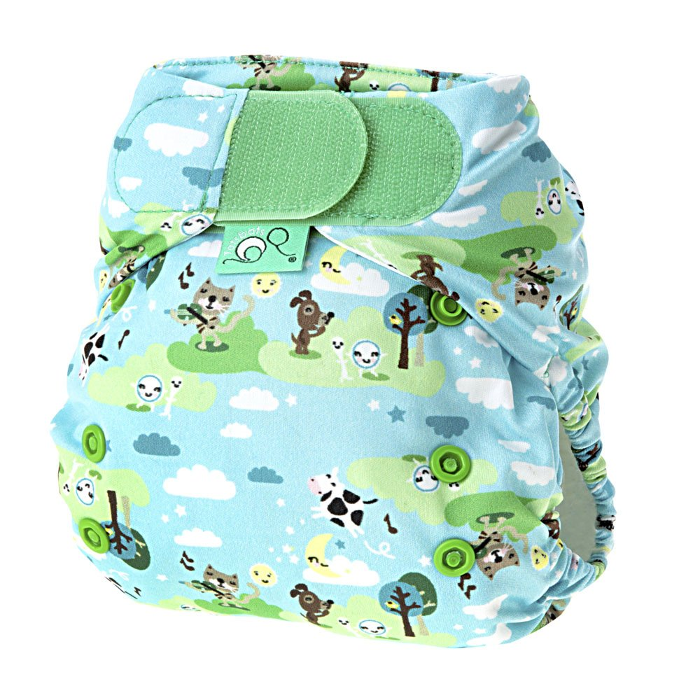 Tots Bots 8-35 lb Easy Fit Hook and Loop Nappy Hey Diddle Print