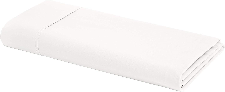 AmazonBasics Ultra-Soft Cotton Flat Sheet - Full, White