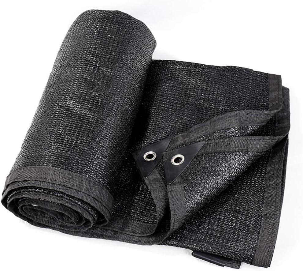 HUYYA 黒95%黒日よけ布、バイザー布 耐紫外線グロメット付きテープエッジ遮光ネット パーゴラキャノピー,15x24ft/5x8m