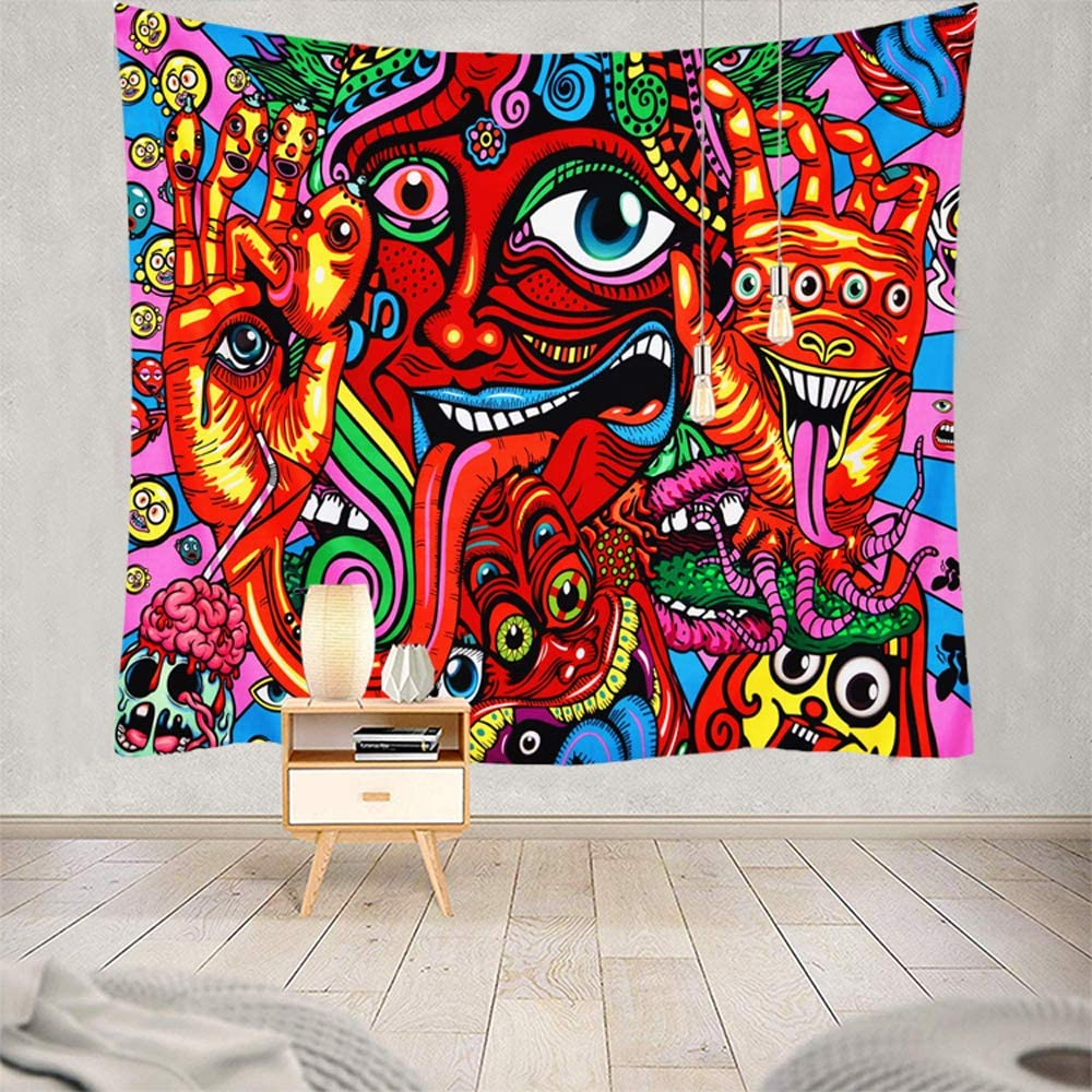 /& Living Art Polyester Psychedlic Mural Background cloth Tapestry Wall Hanging