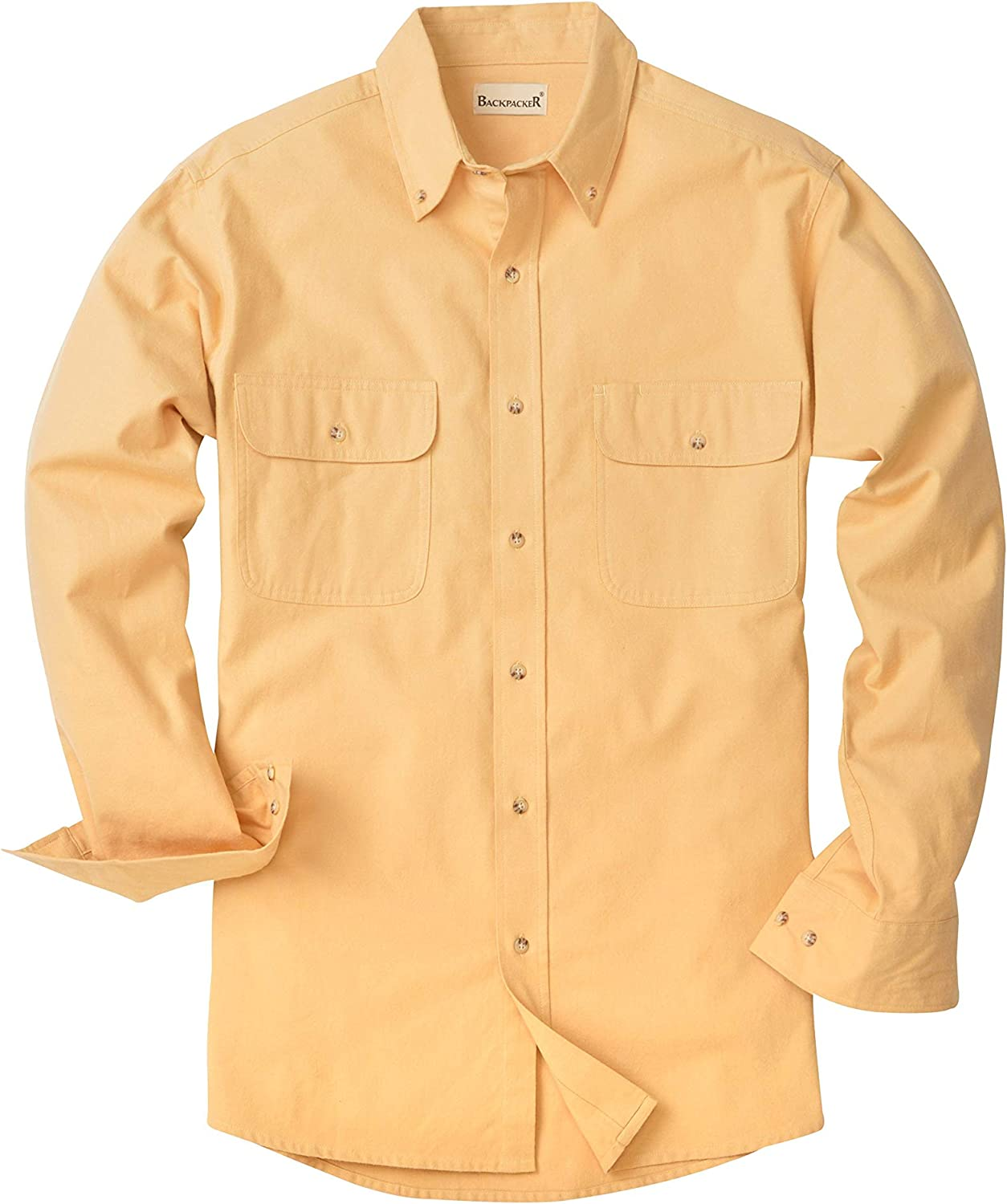 Backpacker Mens Solid Flannel Shirt