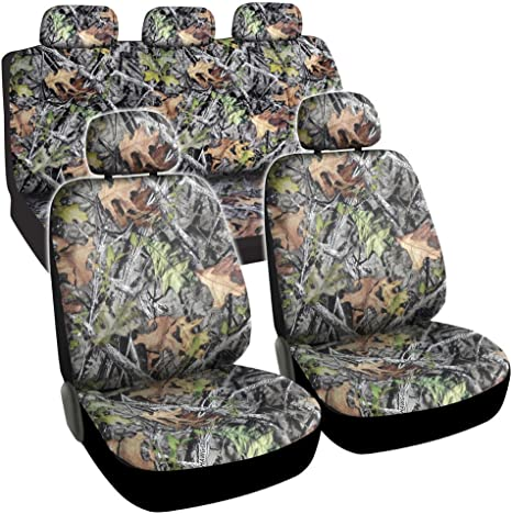 BDK Hawg Camo Seat Covers Maple Forest Pattern Camouflage for Auto Truck Car SUV SC-703/_AMJAN