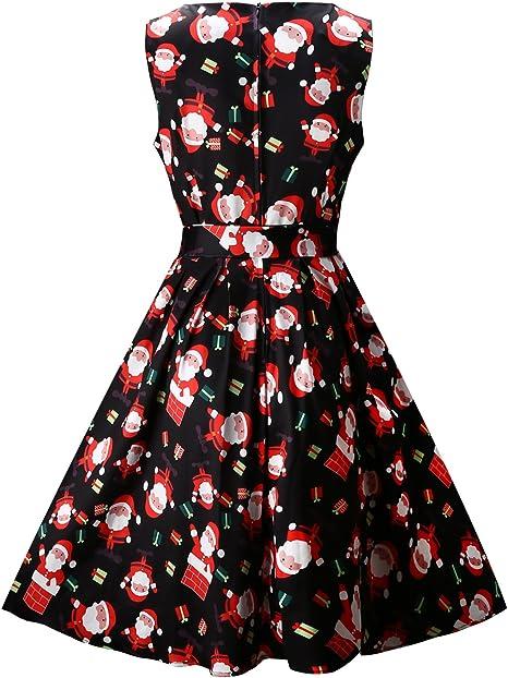 Be Jealous Womens Xmas Heart Ribbon Santa Suit Swing Dress
