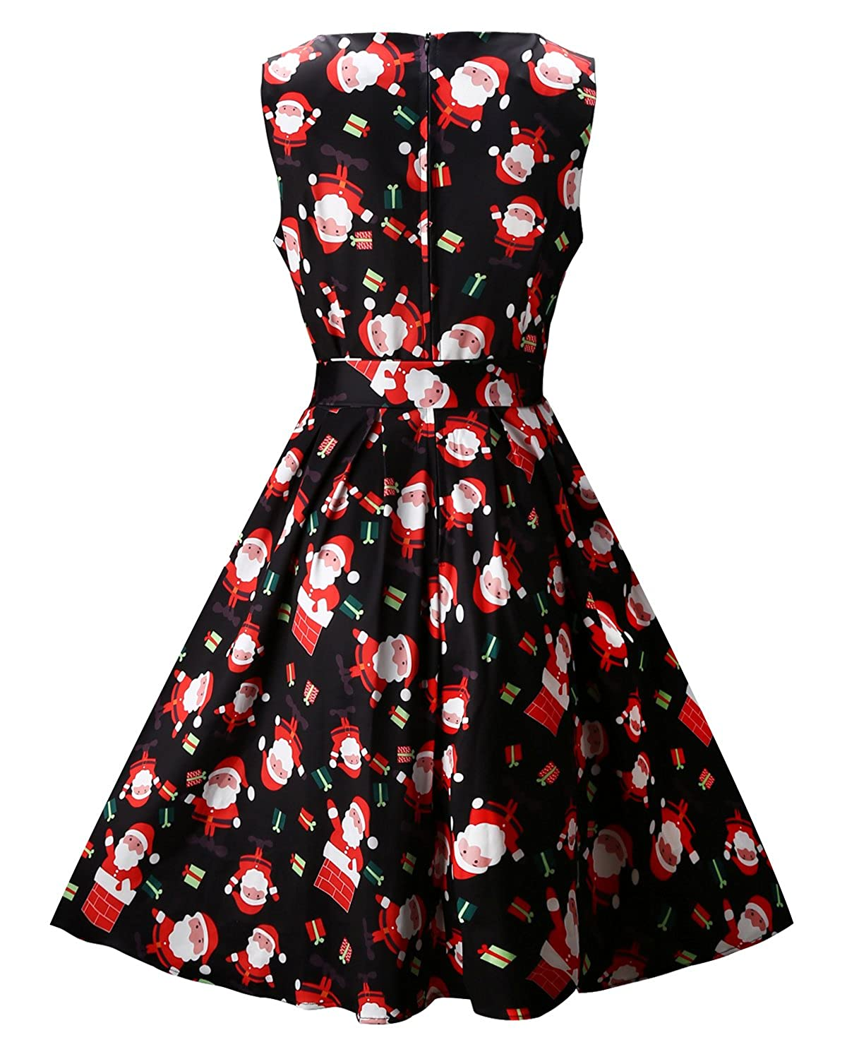 OUGES Women\'s Christmas Gifts Fit and Flare Cocktail Dress at Amazon ...