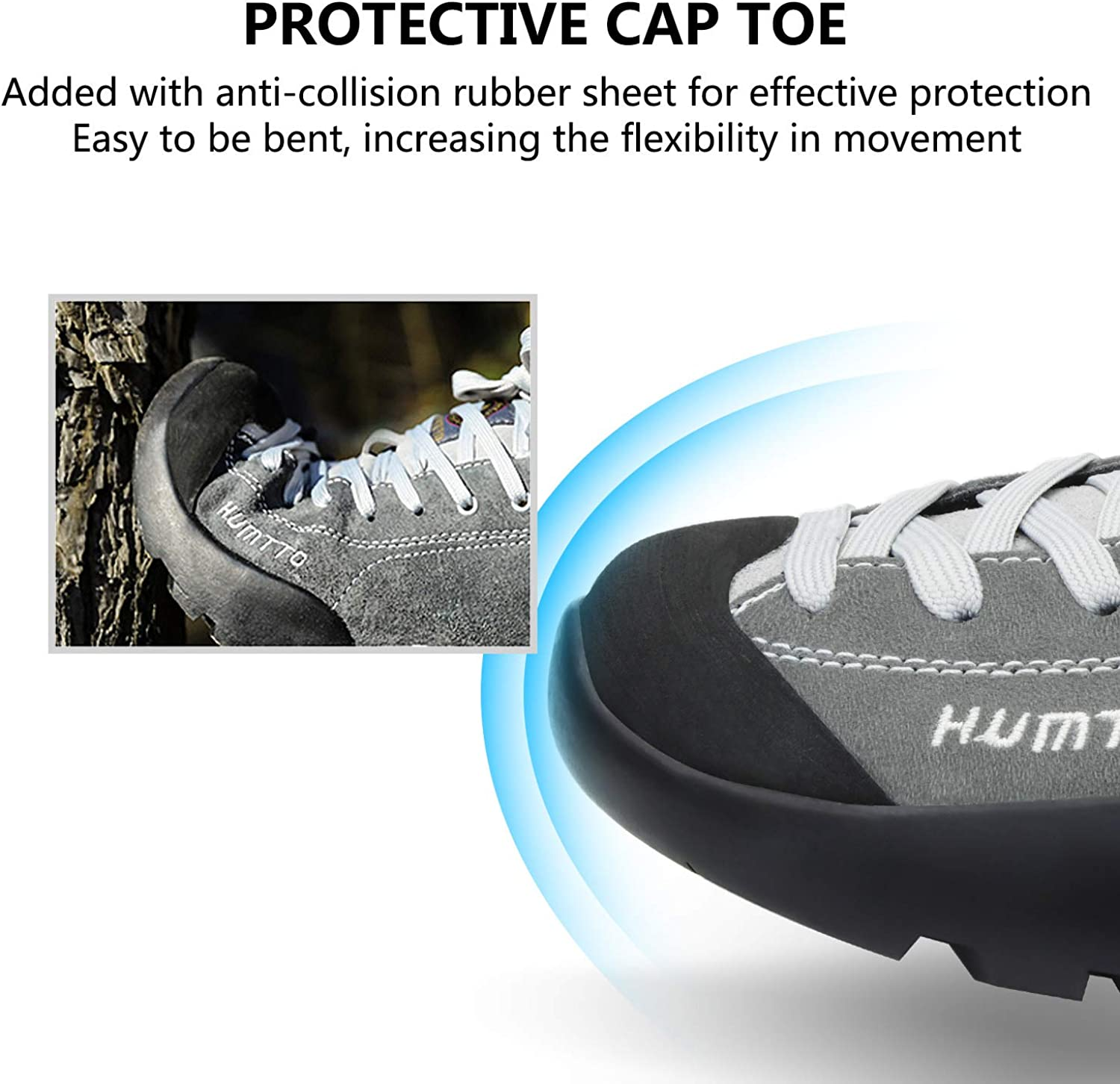 HUMTTO Men Winter Snow Boots-Athletic Trail Trekking Sneakers Outdoor Backpacking Ankle Boot Waterproof Suede Leather Working Shoes