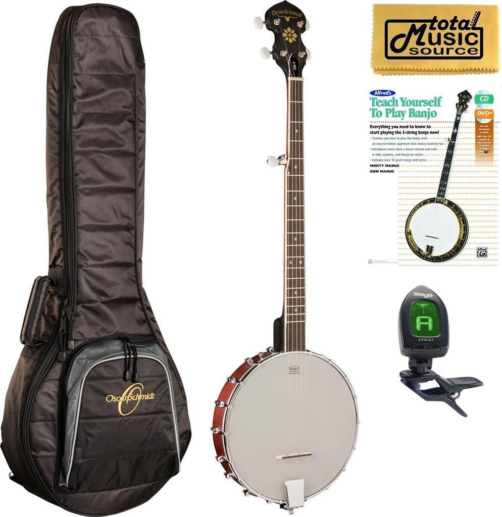 Oscar Schmidt OB3 5-String Banjo Bundle with Oscar Schmidt Gigbag, OB3 BAGPACK