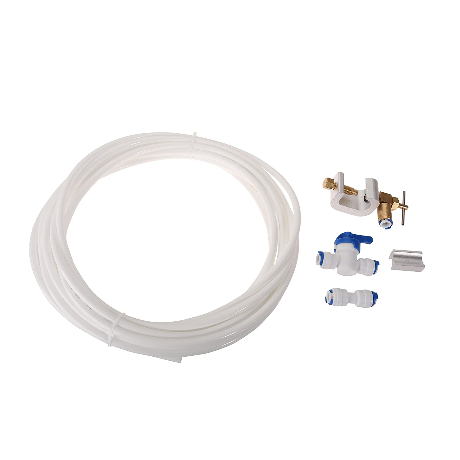 First4Spares Water Supply Pipe Tube + Fridge Connector Kit For Samsung American Style Double Fridge / Refrigerator (1/4
