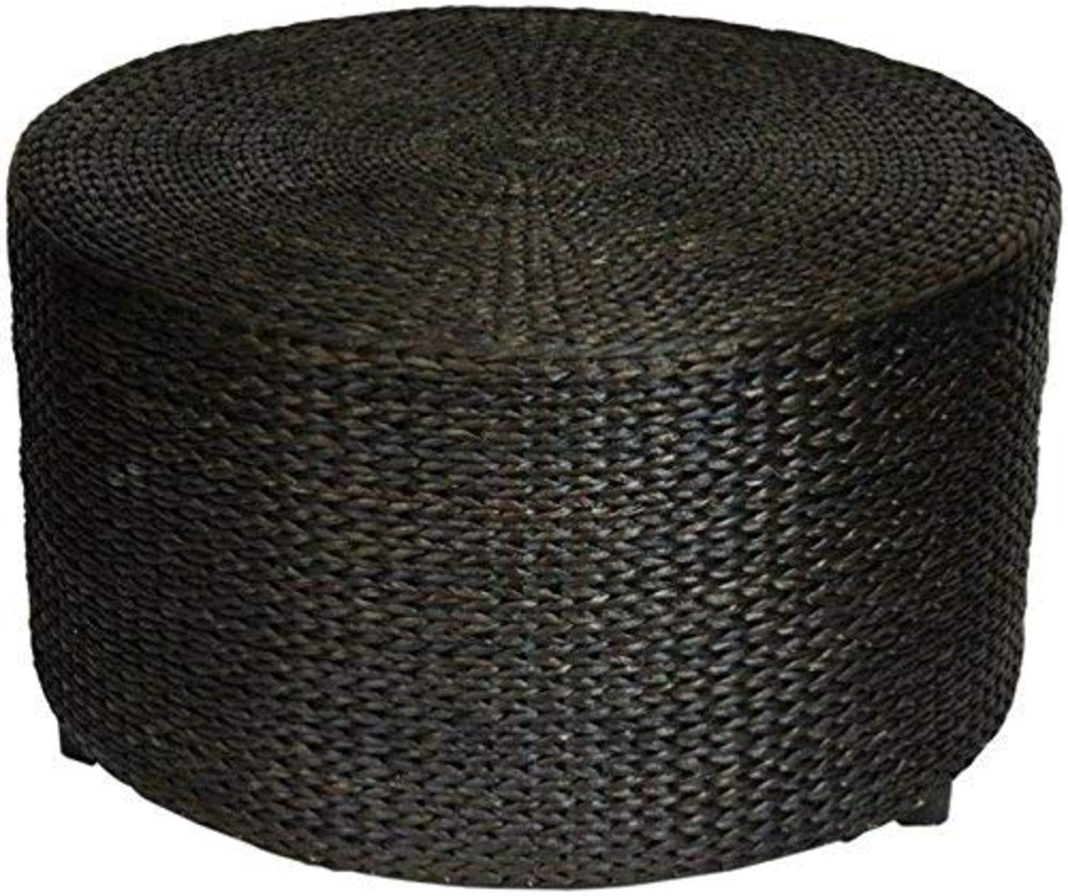 - Oriental Furniture Rustic Foot Stool, 30-Inch Woven Water Hyacinth