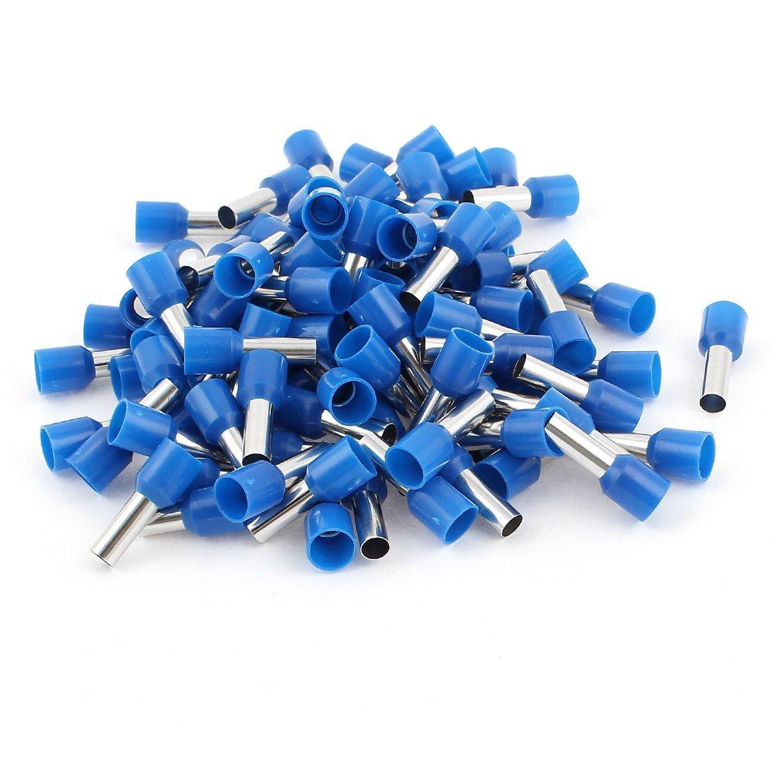 100 PC-10mm2 Cord End Insulated Aderendhü lsen Terminal-Blau Crimp DealMux DLM-B00TX43W6S