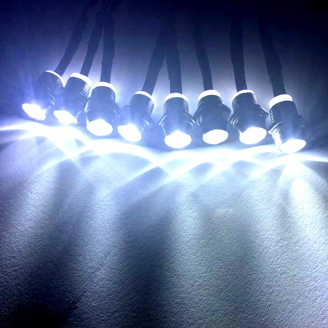 Kalevel Led Light for Rc Trucks Cars 8 LED Rc Car Led Light Kit Rc Truck Led Lights Rc Truck Light Kit Rc Car Headlights Taillight for Truck Rc Car Tank Hsp Tamiya D3 Rc Car Accessories