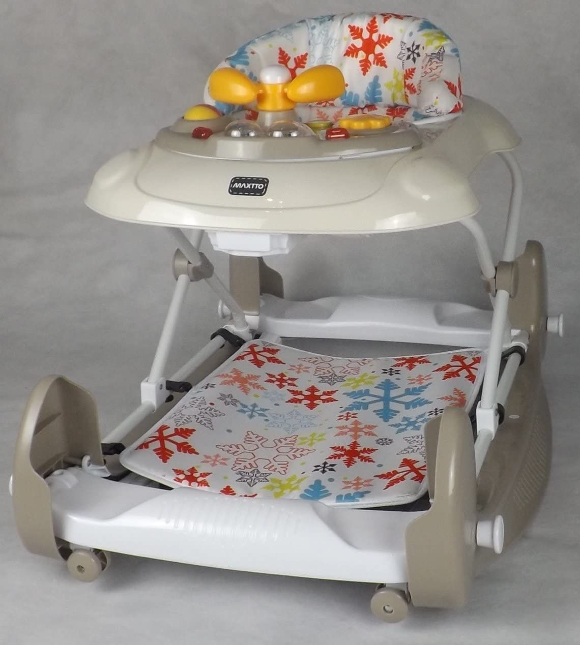 MUSICAL TRAY //BEIGE FAST DELIVERY ROCKER ACTIVITY TOY NEW SNOW FLAKE WALKER