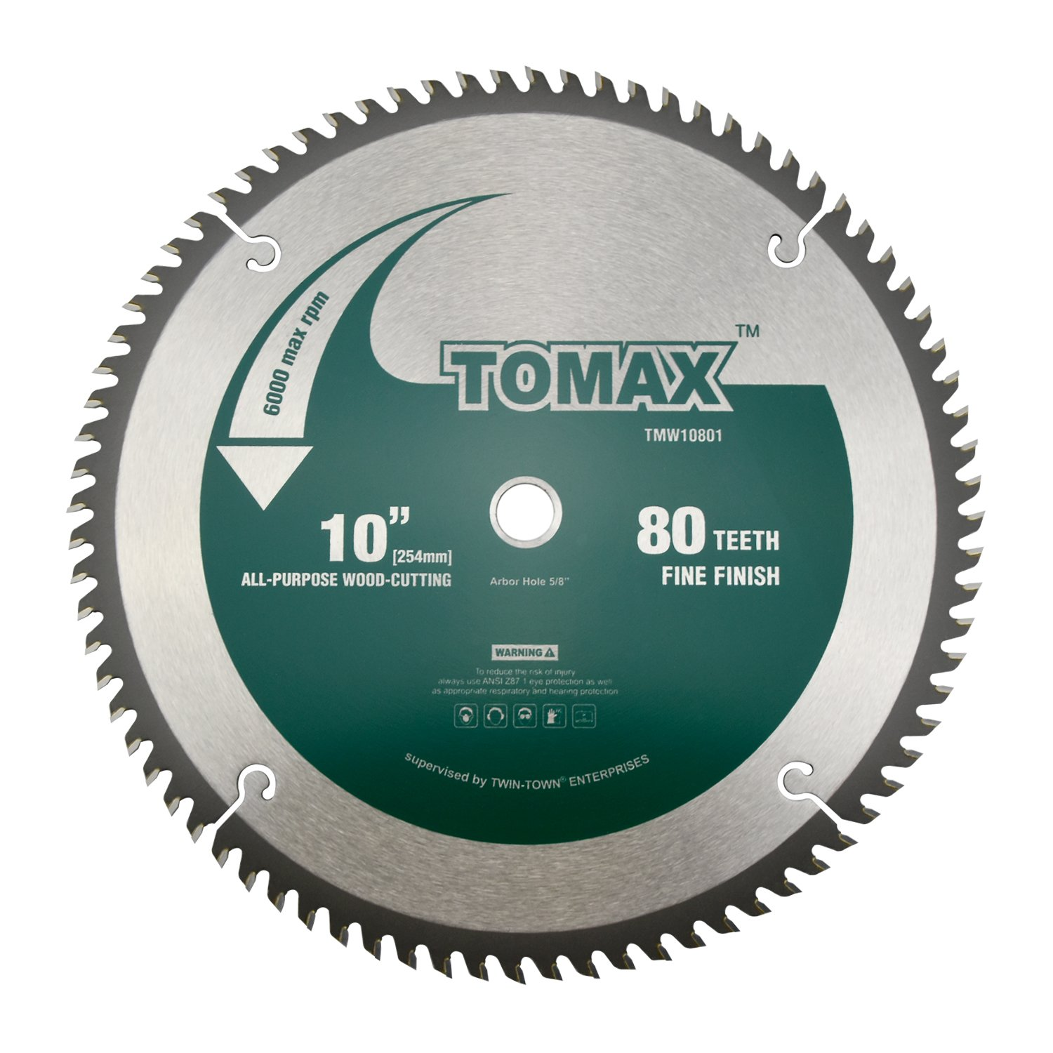 Tomax  Tooth Atb Fine Finish Saw Blade With 5 8 Inch Arbor Amazon Com