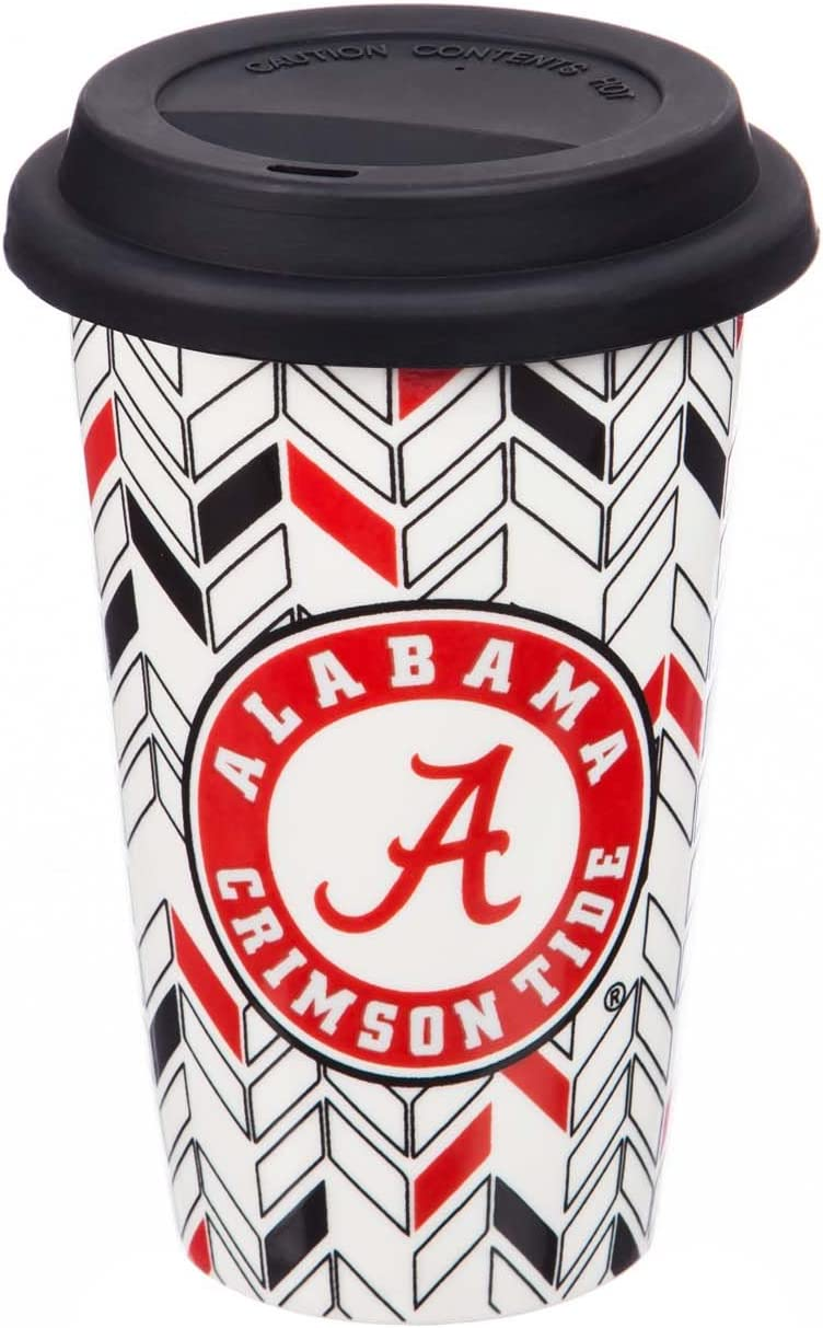 with Team Color Markers 10 Ounces Team Sports America NCAA Personalizable Ceramic Travel Coffee Mug