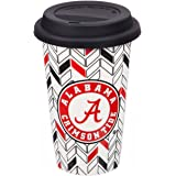 Team Sports America NCAA Personalizable Ceramic Travel Coffee Mug, 10 ounces, with Team Color Markers