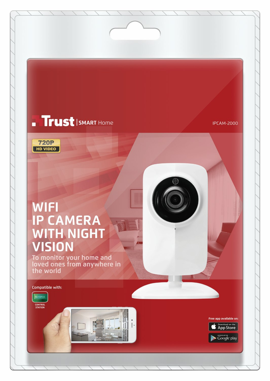 Trust IPCAM-2000 - Cámara IP de videovigilancia Wi-Fi con visión Nocturna, Color Blanco: Amazon.es: Informática