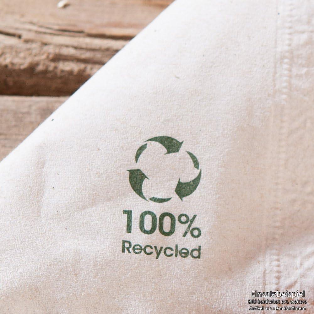 biod/égradables et compostables BIOZOYG Bio Serviettes /écologiques en Papier recycl/é I Serviettes en Papier de Haute qualit/é 20 x 20 cm I 4800 pi/èces /à Cocktail Non blanchies