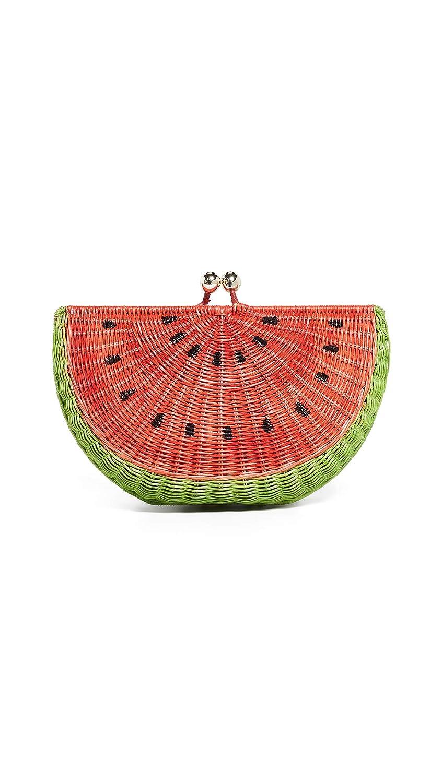 bcf609dec Serpui Marie Women's Watermelon Wicker Clutch, Pink, One Size: Handbags:  Amazon.com