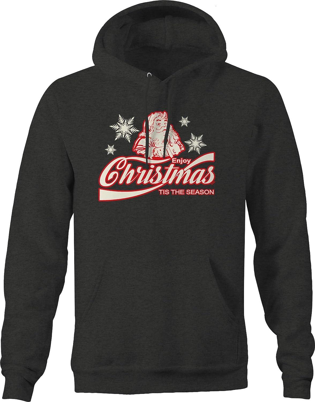 Enjoy Christmas Tis The Season Santa North Pole Snowflake Ho Ho Hoodies for Men