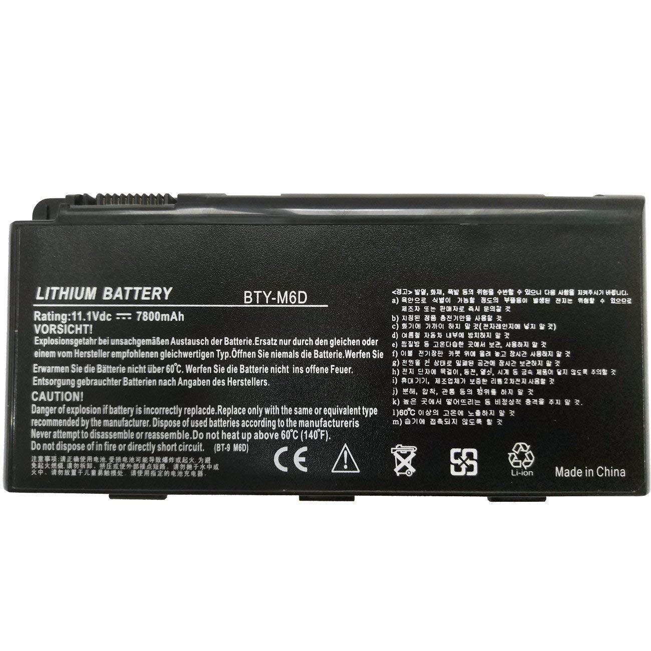 Bateria Bty-m6d 9 Celdas 7800mah MSI GT60 GX60 GT70 GT660 GX