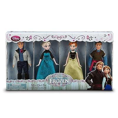Disney Frozen Exclusive Mini Doll Set [Kristoff, Anna, Elsa, Hans]: Toys & Games