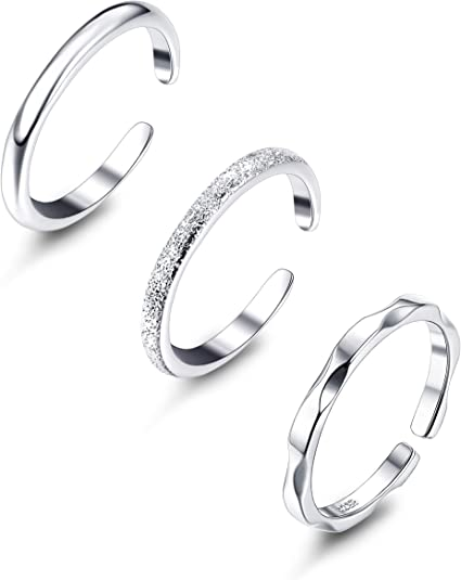 Minimalist Solid 925 Sterling Silver Double Line Ring for Women Fine Jewelry