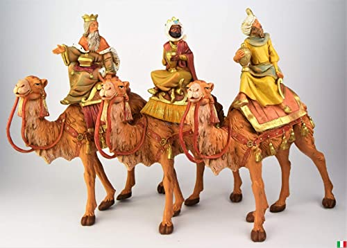 7.5 Inch Scale Fontanini Three Kings on Camels 51814