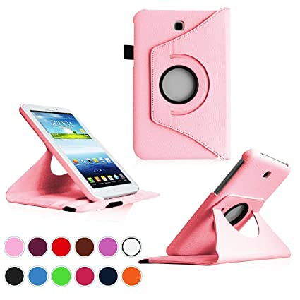 Kingsource (TM) 360 Rotating Leather Stand Case Cover for