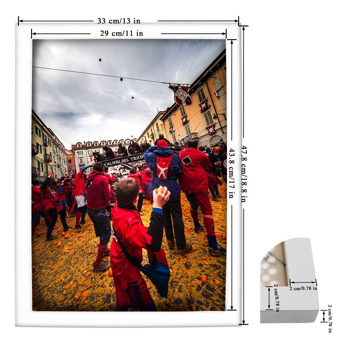 bojin 12 x 18 Wand Holz Bilderrahmen Posterrahmen Display Photo 12 ...
