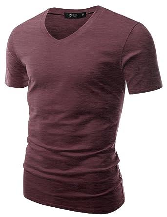 6e777c0e1 Doublju Mens V-Neck T-shirts with Short Sleeve