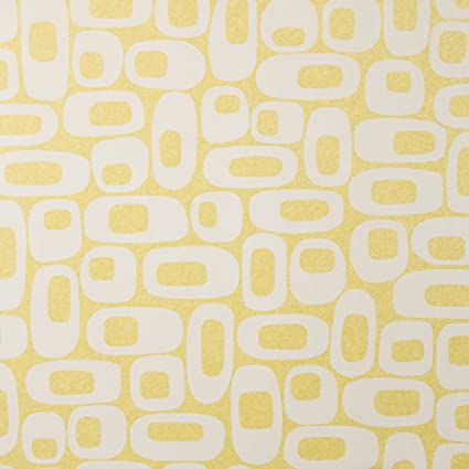 Os Lemon Lime Mid Century Wallpaper For Walls Double Roll By Romosa Wallcoverings Ll7335