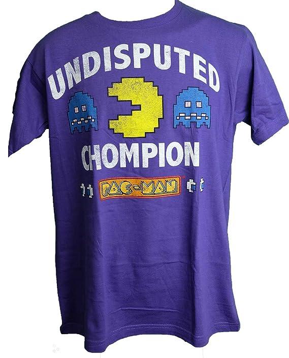 Men's Undisputed Chompion Pac-Man T-shirt, Purple, M, L