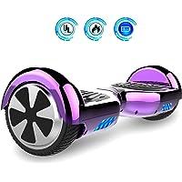 Self Balance Board 6,5 Pouces Smart Scooter Skateboard Électrique Gyropode 2x350W (C-Purple, 6.5)