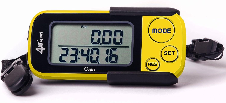 Ozeri 4x3sport Bolsillo 3D pod/ómetro y Actividad Tracker con tecnolog/ía Tri-Axis /& Memoria 30 d/í