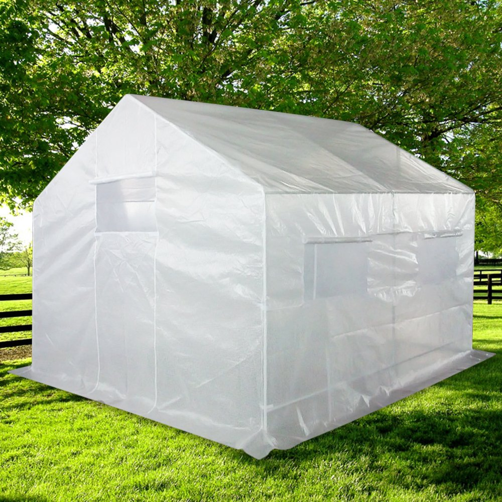 Quictent 2 Doors 12 Stakes 10' X 9' X 8' Portable Greenhouse Large Walk-in Green Garden Hot House
