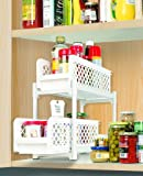 "Evana 15"" Versatile 2 Tier Portable Sliding Basket Drawers Storage Cabinet Box"