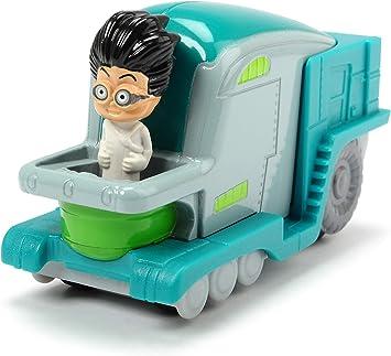 Dickie Toys PJ Masks - Vehículo de Laboratorio Romeos Labor Flitzer de Metal, Rueda Libre, 7 cm, a Partir de 3 años