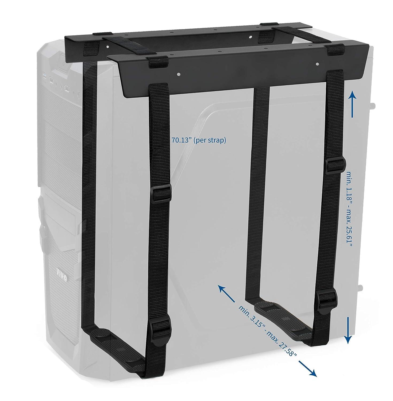 Amazon Com Vivo Black Under Desk And Wall Mount Pc Adjustable Strap