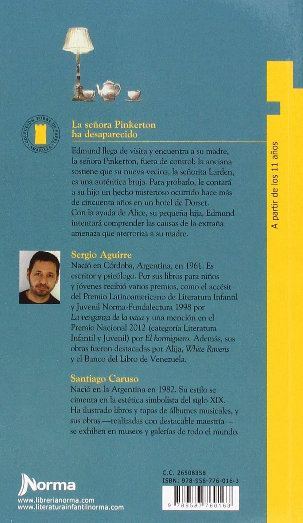 La Senora Pinkerton Ha Desaparecido (Torre de Papel Amarilla) (Spanish Edition): Sergio Aguirre, Santiago Caruso: 9789587760163: Amazon.com: Books