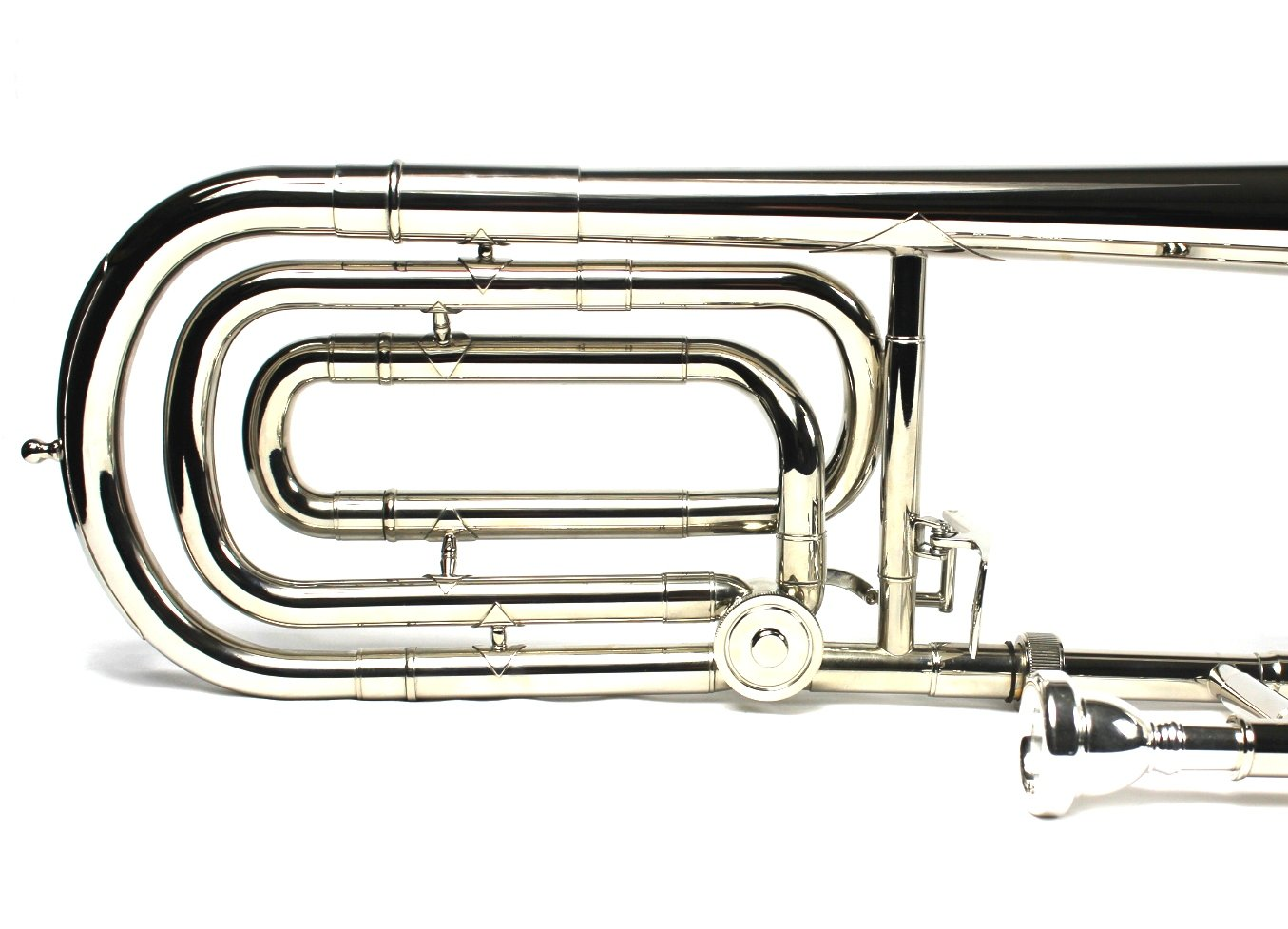 Brand New Bb/F Bass Trombone w/ Case and Mouthpiece- Nickel Plated Finish by Moz (Image #6)