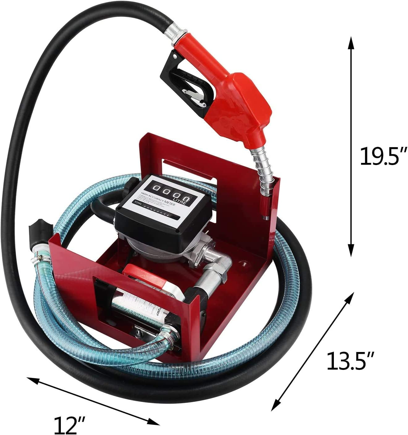 Pompe /à Huile pour Vidange Pompe /à Huile pour Vidange 40L//Min Pompe /à Fuel Ou Gasoil 600W Pompe /à Huile Electrique