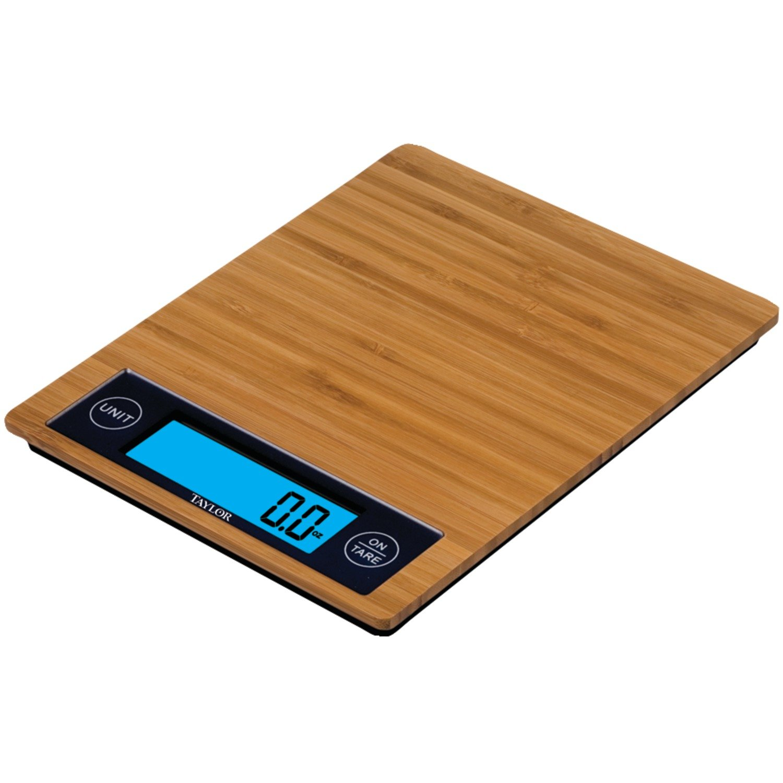 Amazon.com: Taylor 3828 Bamboo Digital Food Scale: Digital Kitchen Scales:  Kitchen U0026 Dining